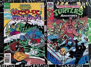 Teenage Mutant Ninja Turtles LOT of 3 Archie Comics 1992 Mutanimals Mondo Gecko