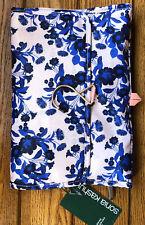 Sonia Kashuk Brush Easel Organizer Valet Cosmetic Bag Botanical Floral Blue