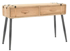 Industrial Style Console Table With 2 Drawers Vintage Hallway Furniture Rustic