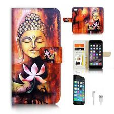 ( For iPhone 6 / 6S ) Wallet Case Cover P6527 Buddha Lotus