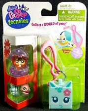 Littlest Pet Shop Teensies Farm 2 Pets T101 T102 Bubble Keychain House NEW 2011