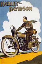 Harley-Davidson vintage motorcycle ad poster 16x24