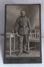 Militaria Cabinet Foto Soldat Uniform Pickehaube um 1900 München