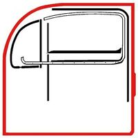 VW Käfer Türdichtung LINKS ab Baujahr 1966 für Fahrerseite              020-5083