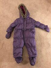 Girls Mini Club Boots Snow Suit Purple Boots & Gloves Uk 6-9 Months VGC !