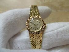 Vintage Geneva 14k Solid Gold Diamond Watch.  17 Rubis.  Extra Small.  24g.