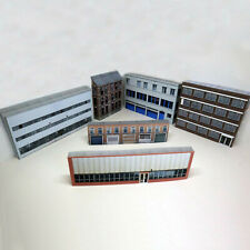 More details for z gauge 1:220 card model railway industrial warehouses 6 x buildings p-i-003 int