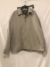 Men's Greg Norman Moisture Wicking Beige Golf Insulated Jacket Size L
