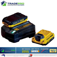 Stanley® Fatmax Genuine 18V 2x 2.0Ah Li-ion Battery and Charger Kit Rechargeable