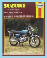 MAN301 Haynes Manual for Suzuki GT GT125 & GT185 Twins 1973 to 1976