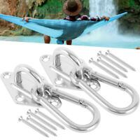 Heavy Duty Stainless Steel Hammock Hanging Hooks Kits Swingchair 800lb Capacity Ebay