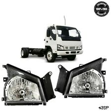 For 04-07 Isuzu NPR NQR 05-06 GMC W-Series W4500 Headlights Headlamps Pair Set