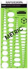 Berol Rapidesign Template - Metric Ellipse Master - R-2077