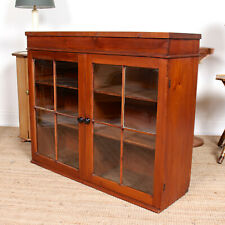 Antique Glazed Bookcase Top Astragal Country Furniture Glass