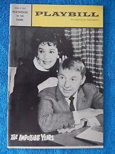 The Impossible Years - Playhouse In The Park Playbill - June 1966 - David Wayne