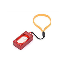 Dog Pet Click Clicker Training Obedience Agility Trainer Aid Wrist Strap Red