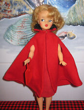 1963 Vtg. Ideal~Tammy Doll~Gorgeous Long Blonde Hair~Hi-Color Face~6 Pc.Red Set