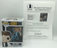 HARRISON FORD SIGNED HAN SOLO FUNKO POP STAR WARS FIGURE BECKETT BAS LOA COA