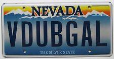 Nevada 2012 VANITY License Plate V DUB GAL