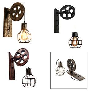 Vintage Wheel Wall Sconce Lights Industrial Wall Lamp Retro Light Steampunk UK