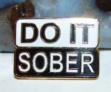 Alcoholics Anonymous AA Do It Sober Lapel Hat Vest Pin NA Recovery Sobriety