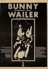 Bunny Wailer Blackheart Man Reggae UK LP advert 1973 MM-XCUI
