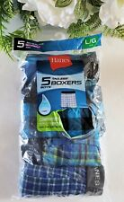 Hanes Boys ComfortSoft Tagless Boxers 5 pack Size Large 14-16 (95-120 lbs.)