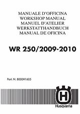 Husqvarna workshop service manual 2009 & 2010 WR 250