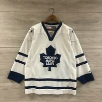 Vintage Toronto Maple Leafs CCM NHL Hockey Jersey White Size Medium