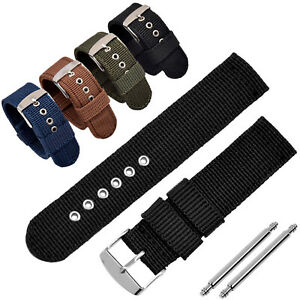 Starkes Nylon Uhrenarmband 16 | 18 | 20 | 22 | 24 mm Textil Stoff Ersatz Band