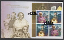 CANADA #2315-2316 54¢ BLACK HISTORY MONTH UL INSCRIPTION BLOCK FIRST DAY COVER