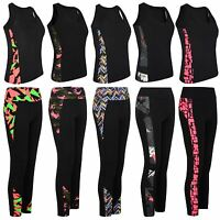 Women Active Wear Tight Top or Yoga Pants Gym Sports Vest Leggings Ladies S-XL