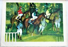 """""""Les jockeys"""" Lithographie signée Camille HILAIRE   et numérotée 89/125"""