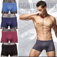 La fibra de bambú mens ropa interior boxer shorts Bulge Pouch calzoncillos