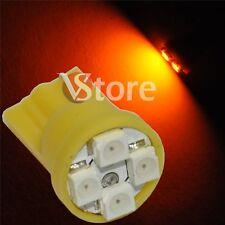 2 LED T10 4 SMD GIALLO Lampada Luci Posizione e Targa Per Fari XENON 12V