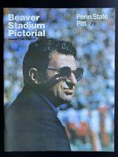 1979 Pitt Panthers v Penn State Nittany Lions Football Program 12-1 EX