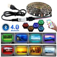 5V USB Power Wireless Wifi Bluetooth LED Strip Lights 5050 RGB TV Backlight 1-5M