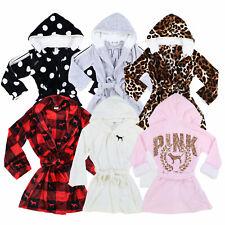 Victoria's Secret Pink Robe Plush Pockets Fuzzy Lounge Cozy Spa Holiday New Vs