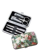 Victorian Trading Still Life Roses 6-Piece Manicure Nail Set in Compact Case 28P