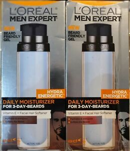 Loreal Men Expert Hydra Energetic Daily Moisturizer For 3 Day Beards Size 1.7 Oz