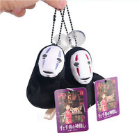 Studio Ghibli Spirtied Away No Face Faceless Plush Toy Key Bag Pendant 2 Color