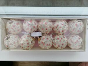Lantern Style Strung Party Lights in Rose Print - 10