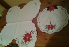 """2 BEAUTIFUL DELICATE SILKY  TABLE MATS 17"""" AND 8.5"""""""