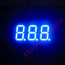 "Brand New 0.36"" 0.36 inch 7 Segment Display Blue LED 3 Digit Common Cathode"