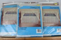 "Vintage 3 Sets 1986 Unopened Hornick Snowflake Tier 60""x36"" Window Curtain Pair"