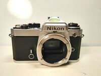 Nikon FE 35mm SLR Film Camera Body Only Made in Japan Tested Working