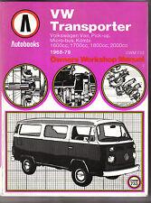 VW Volkswagen Transporter Autobooks Workshop Manual 1968-79 Van Micro-bus Kombi