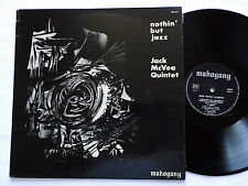Jack McVEA QUINTET Nothin' but jazz FRENCH LP MAHOGANY 558106