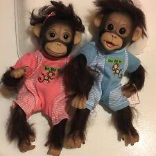 "Ashton Drake ""HE DID IT, SHE DID IT"" Monkey Doll TWINS by Cindy Sales ***CUTE***"