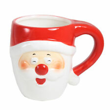 Gift Works Novelty Christmas Ceramic Face Mug - Santa Laughing